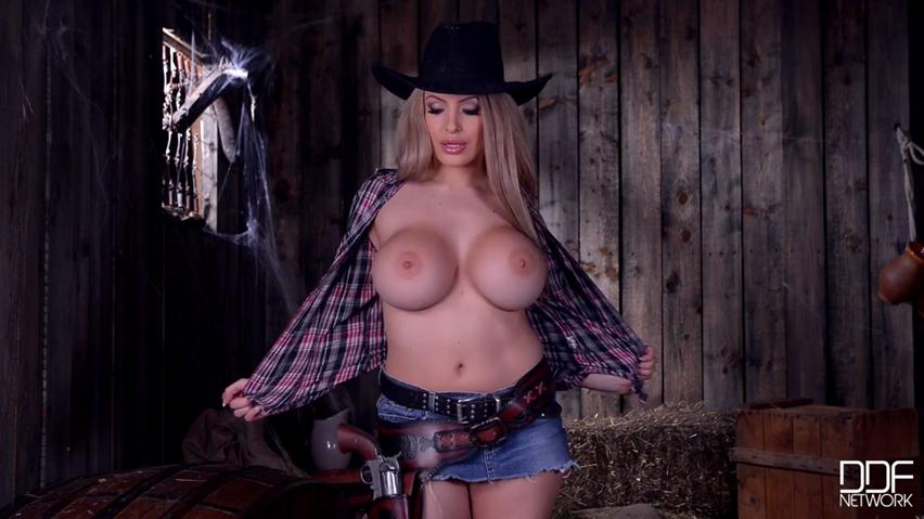 Cheeky cowgirl Anastasia Sweet focuses on her phony twofold Ds farm