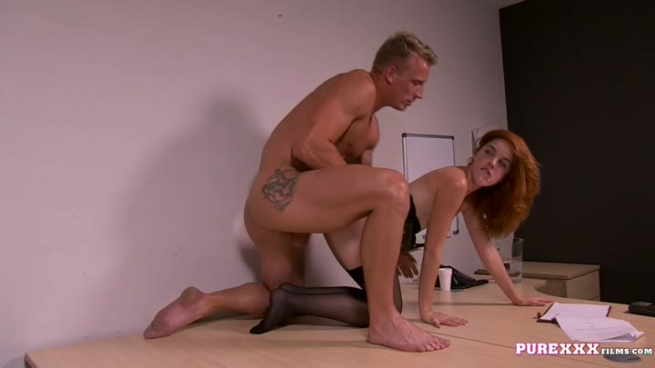 Modest office darling Amarna Miller gets screwed like a modest whore