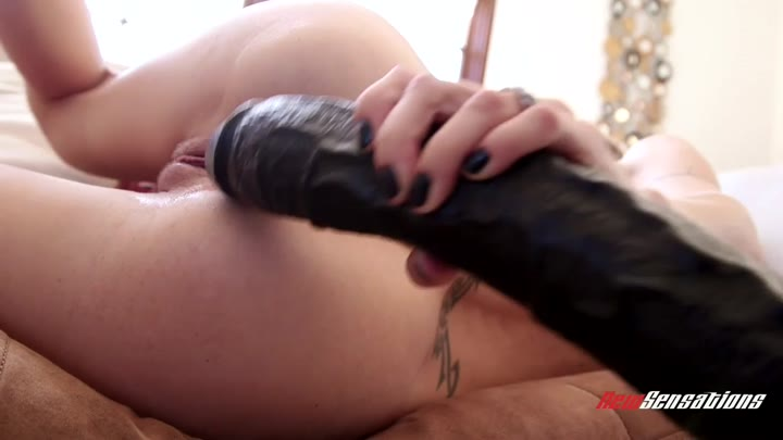 Furry Polish pussy of Natasha Starr VS ruthless dildo