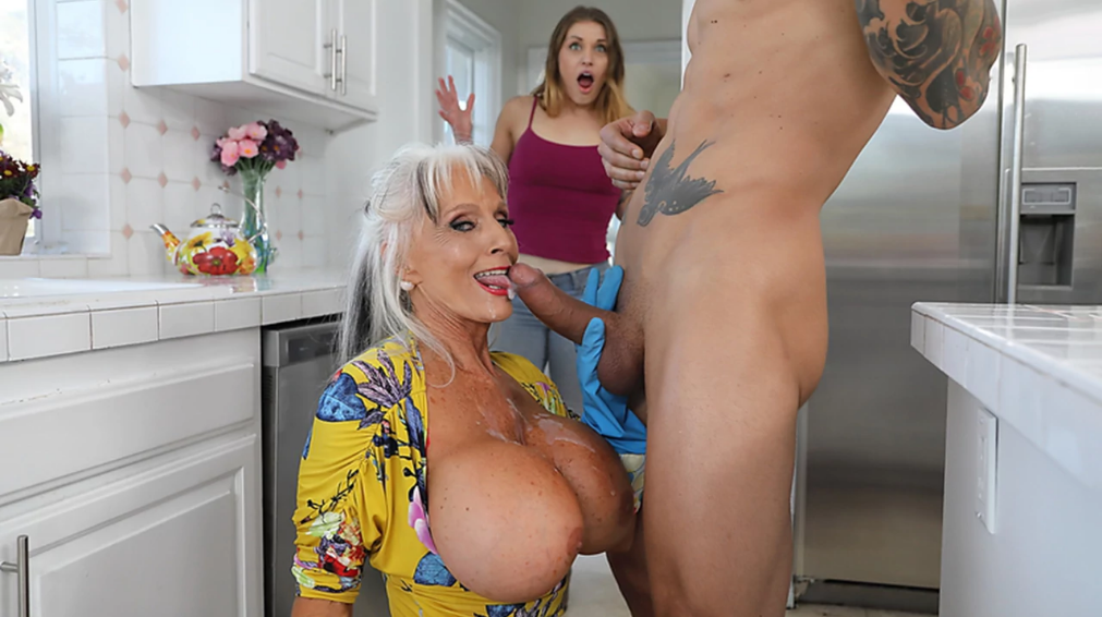 Genuine Mature MILF takes girl's BF