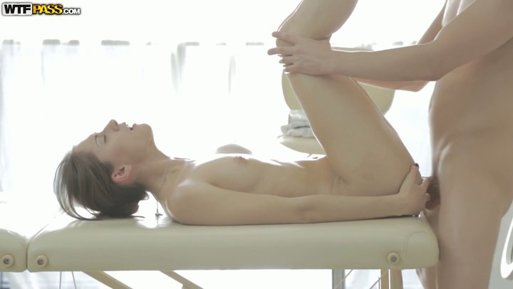 Back rub and enthusiastic butt-centric slamming with eye getting Russian youngster