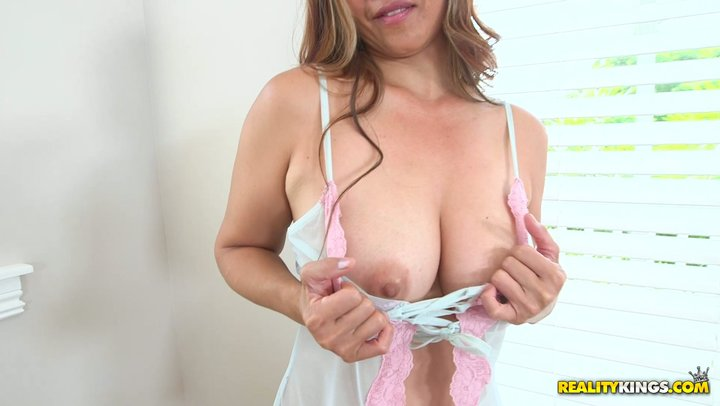 Orgasmic solo scene by hot as fuck and excessively voluptuous Asian MILF Lucy Page