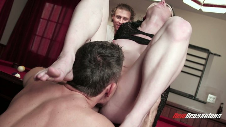 Tasty spouse Veruca James plays pool and screws her cuckold's closest companion